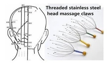 cuatro relajante masajeador capilar cabeza antiestres regalo