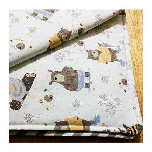 cub011- cubre cama cobertor para cuna : medidas 1.80x 1.20