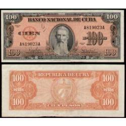 cuba - 100 pesos de 1.959 - fe