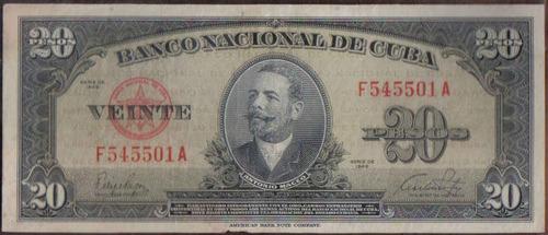 cuba 20 pesos 1949 p80a
