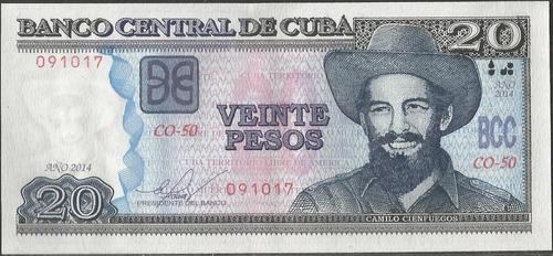 cuba 20 pesos 2014 p122i