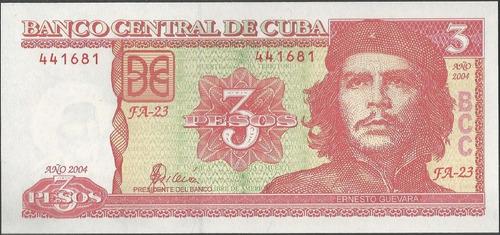 cuba, 3 pesos 2004 p123