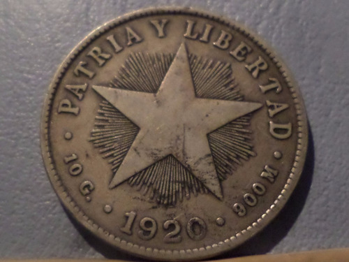 cuba 40 centavos 1920 mb+