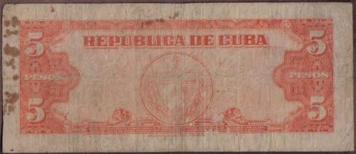 cuba 5 pesos 1949 p78a