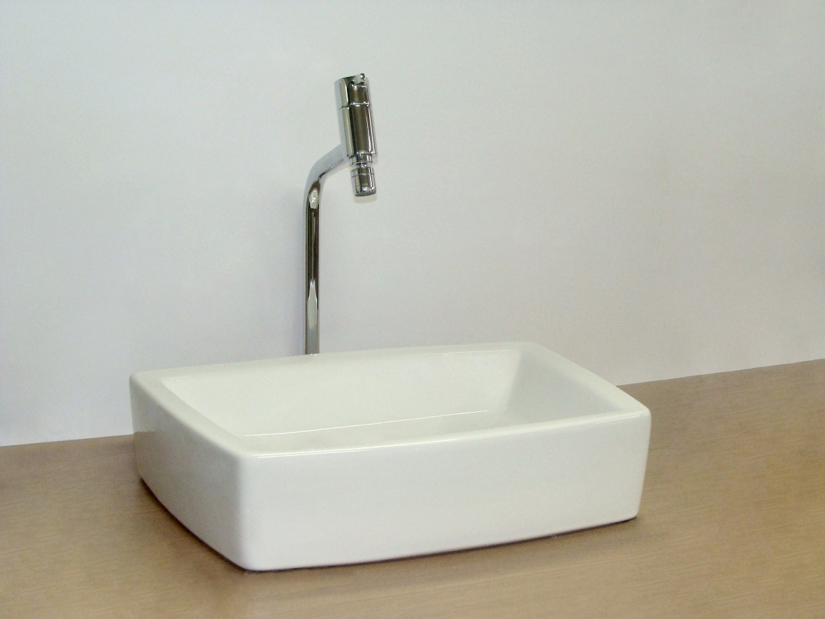 Cuba Apoiosobrepor Porcelana Quadrada Banheiro Arezzo Japi  R$ 259,90 em Me -> Cuba Para Banheiro Japi