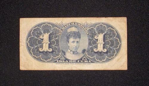 cuba, (banco español) 1 peso - 1896