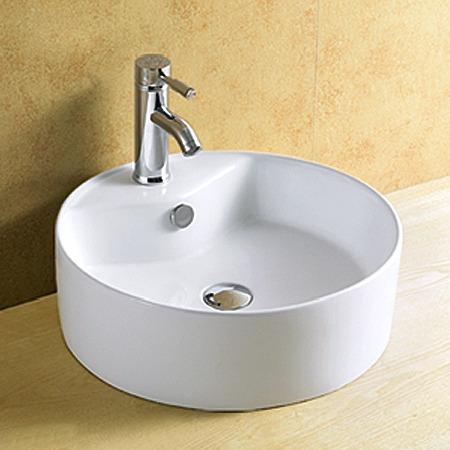 cuba banheiro de sobrepor porcelana vitrificada linda 8002