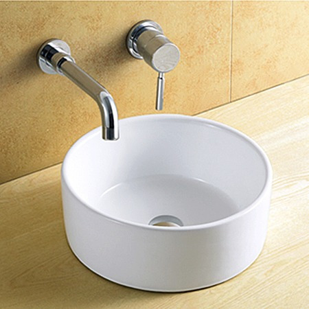 cuba banheiro de sobrepor porcelana vitrificada linda 8118