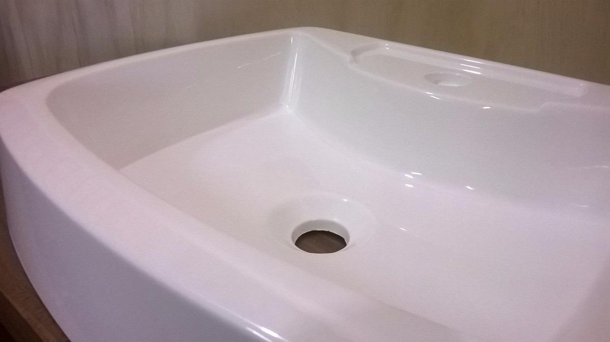 Cuba Banheiro Sobrepor Apoio Retangular Ondulada Branca  R$ 149,00 em Mercad -> Cuba Banheiro Retangular