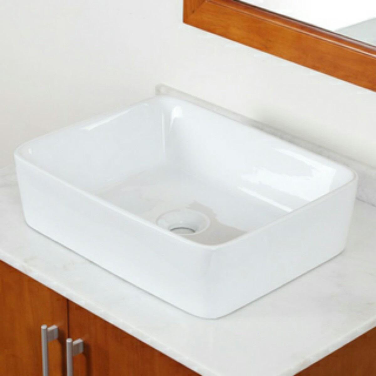 Cuba Cerâmica Retangular Banheiro Tipo Deca Roca Suite Luxo  R$ 289,90 em Me -> Pia Banheiro Roca