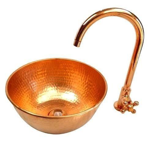 cuba  cobre  torneira cobre+brinde valor cada peça r$225,00