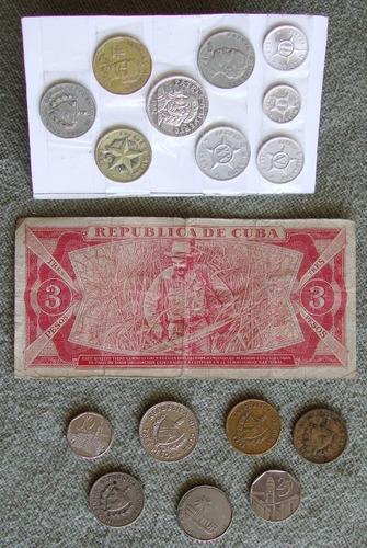 cuba , colección de monedas y billete