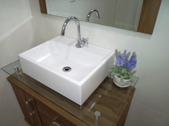 Cuba De Apoio Moderna Lavatório Para Banheiro E Lavabo  R$ 124,90 em Mercado -> Cuba De Banheiro Sobrepor