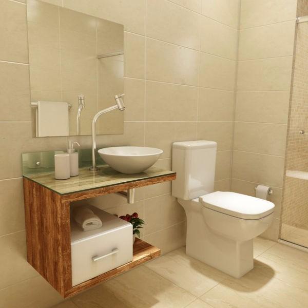 Cuba De Apoio Sobrepor Redonda Louça Branca 37cm  R$ 179,90 em Mercado Livre -> Armario De Apoio Para Banheiro