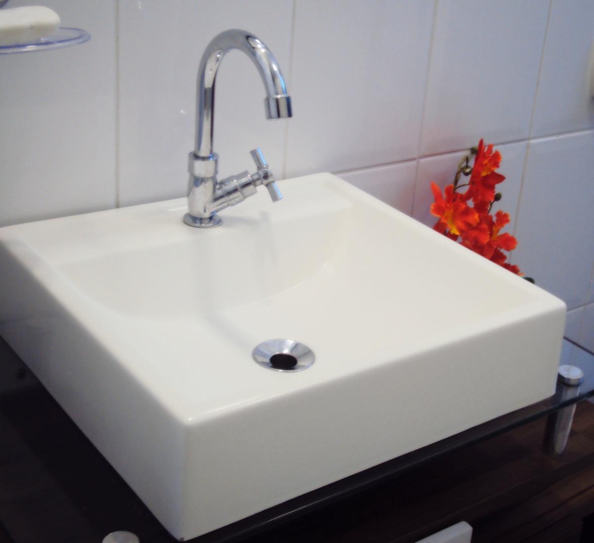 Cuba De Apoio Tendência Lavatório Para Banheiro E Lavabo  R$ 79,90 em Merc -> Cuba De Apoio Para Banheiro Eternit Mileto
