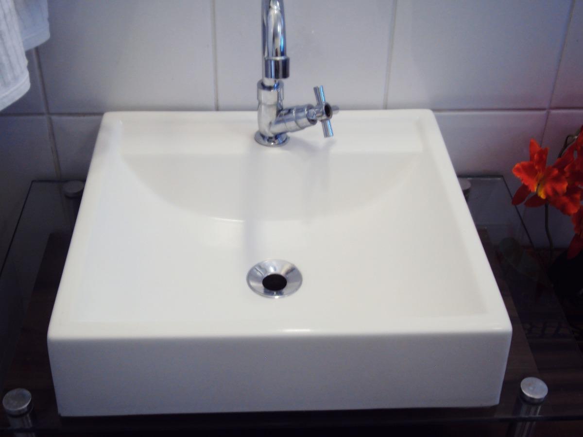 Cuba De Apoio Tendência Lavatório Para Banheiro E Lavabo  R$ 79,90 em Mercad -> Cuba Alta Banheiro