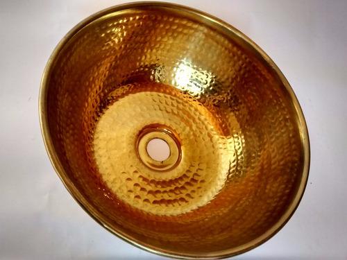 cuba de latão 5 litros lavado pia banheiro metal arte