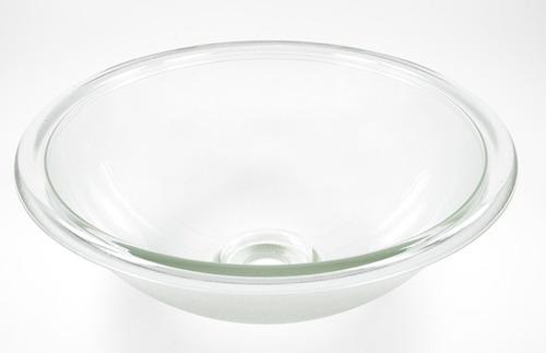 cuba de vidro com aba - texturizada - promoção