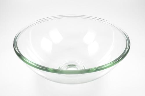 cuba de vidro lisa de sobrepor para banheiro - promoção