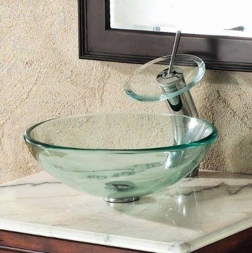 Cuba De Vidro Para Banheiro Redonda 30x30x11  R$ 109,90 em Mercado Livre -> Cuba De Vidro Para Banheiro Mercadolivre