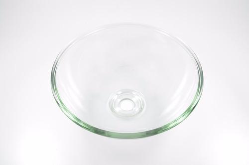 cuba de vidro redonda para banheiro lavabo - lisa sem abas