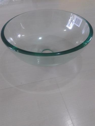 cuba de vidro redonda transparente