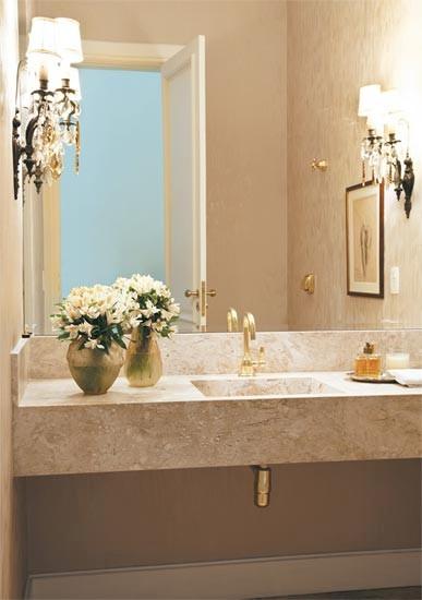 Movel Para Banheiro Azul : Cuba esculpida banheiro m?rmore travertino r