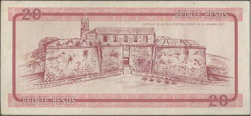 cuba foreing exchange certificate 20 pesos nd1985 a pfx5