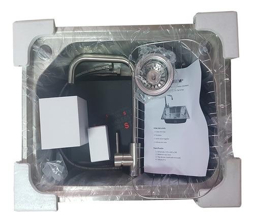 cuba inox cozinha gourmet com torneira misturador 57 x 43 cm