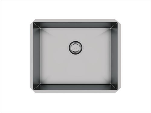 cuba inox embutir quadrada gourmet 500 x 400 com válvula
