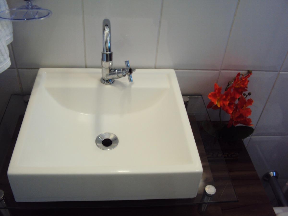 Cuba De Apoio Tendência Lavatório Para Banheiro E Lavabo  R$ 85,90 em Mercad -> Cuba Banheiro Tendencia