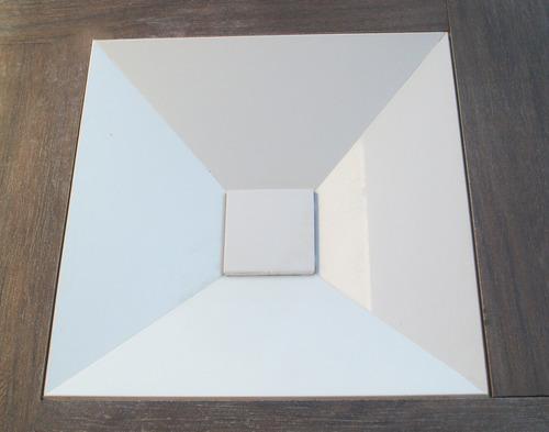 cuba para banheiro quadrada em porcelanato - arthome