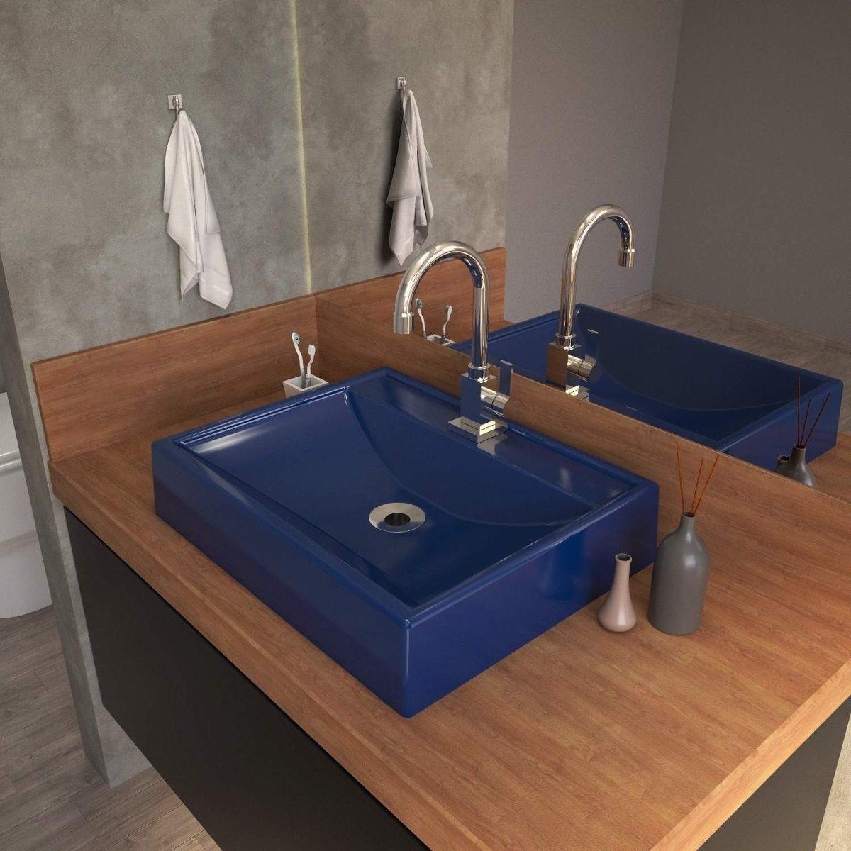 Cuba Para Banheiro Rt49w Retangular Compace Azul Ja R 157 90 Em Mercado Livre