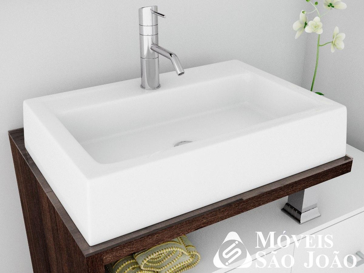 Cuba Pia De Apoio Retangular Para Banheiro  Athenas  R$ 169,99 em Mercado L -> Cuba Banheiro Franke