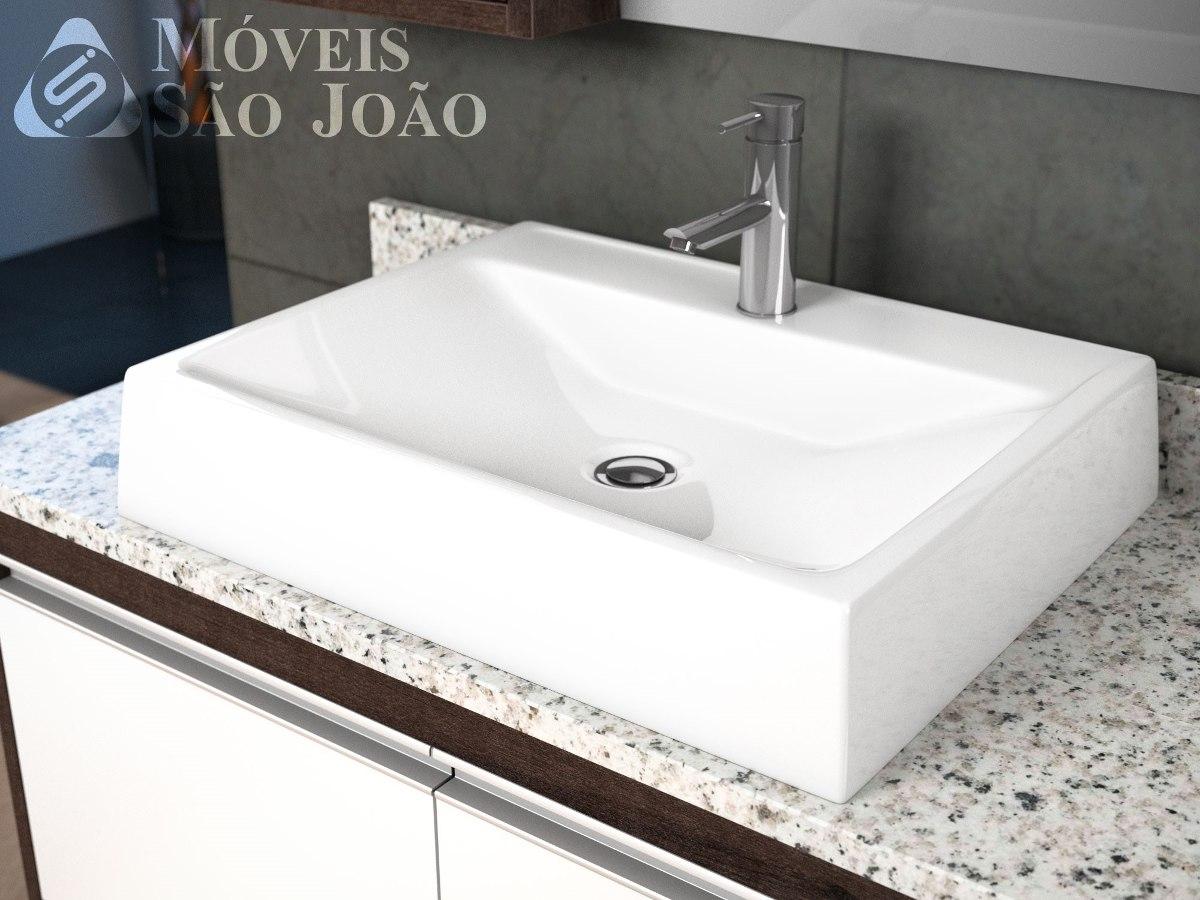 Cuba  Pia Apoio Retangular Para Banheiro Branca  Advance  R$ 179,99 em Mer -> Cuba Banheiro Branca