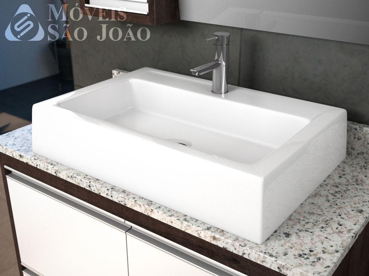 Cuba Pia De Apoio Retangular Para Banheiro  Athenas  R$ 169,99 em Mercado L -> Cesta Para Pia De Banheiro