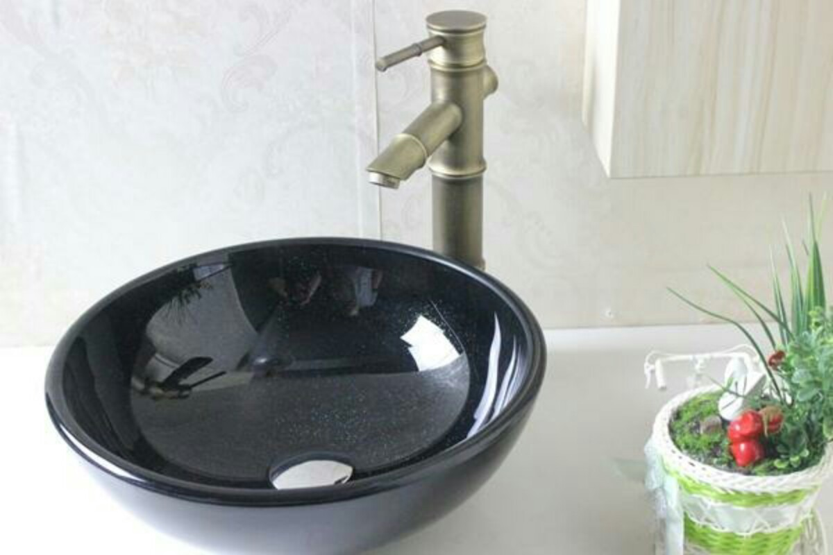 Cuba Pia Vidro Preta 31x31 Banheiro Frete Grátis Lavabo Luxo R$ 199  #62814A 1200 800