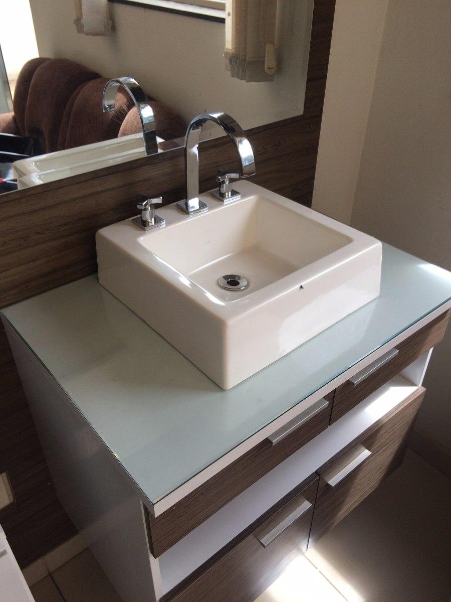 Cuba Quadrada Banheiro Com Válvula Lavatório Cromada  R$ 119,90 em Mercado L -> Cuba Para Banheiro Thema