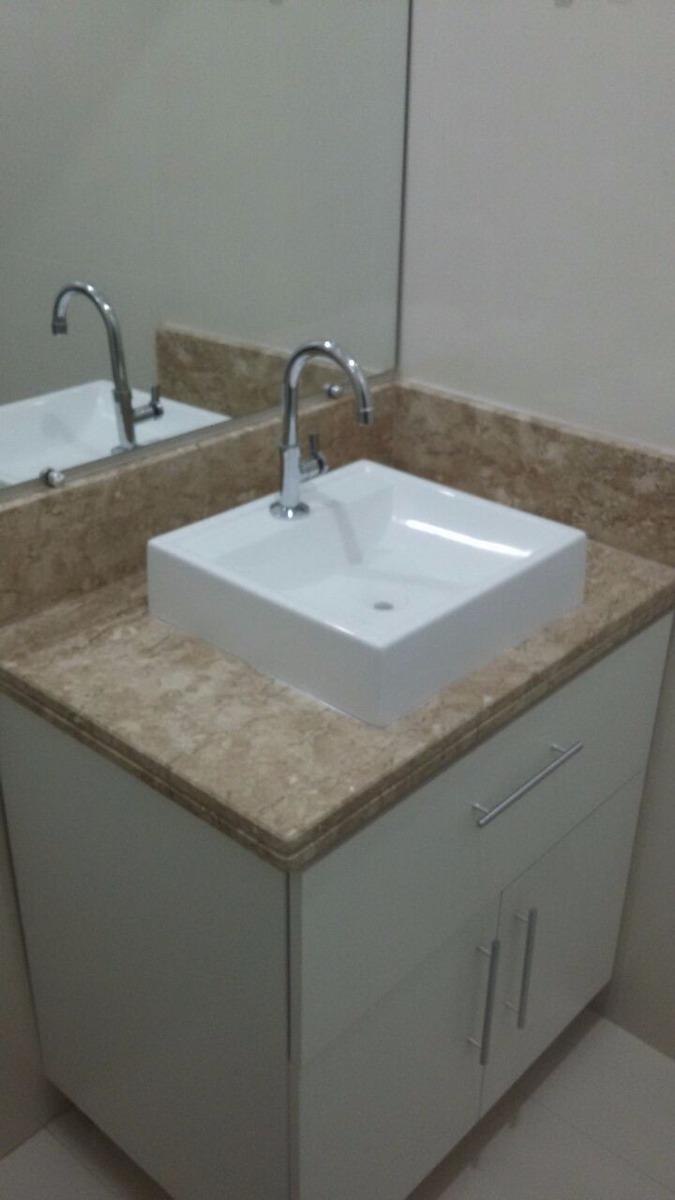 Cuba Quadrada Branca De Apoio Sobrepor Para Banheiro  R$ 139,00 em Mercado L -> Cuba Banheiro Frete Gratis