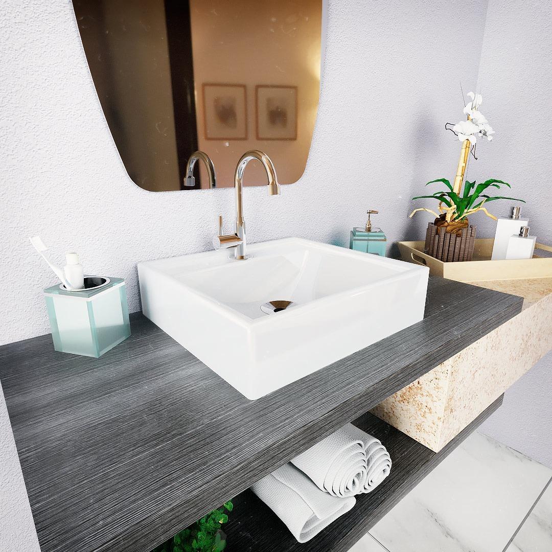 Croy Cubas E Pias Para Banheiro Cuba Sobrepor P Banheiro Modelo Tendencia 40 Cm Valvula 7 8 R 169 90