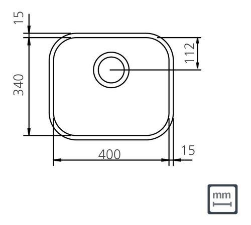 cuba tramontina n3 standard 40x34x14 aco inox 94081506