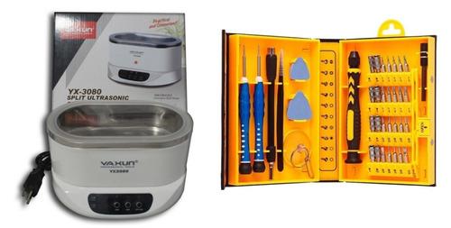 cuba ultrassônica p/ limpeza yaxun 3080 220v kit 6028b novo