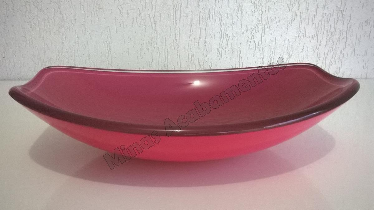 Cuba Vidro Banheiro Oval Rosa  R$ 229,90 em Mercado Livre -> Cuba Banheiro Rosa