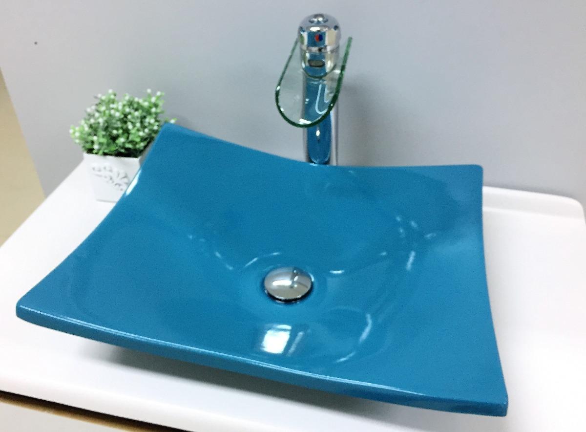 Cubapia De Apoio Banheiro Formato Folha Bari Azul Turquesa  R$ 149,99 em M -> Cuba Para Banheiro Folha