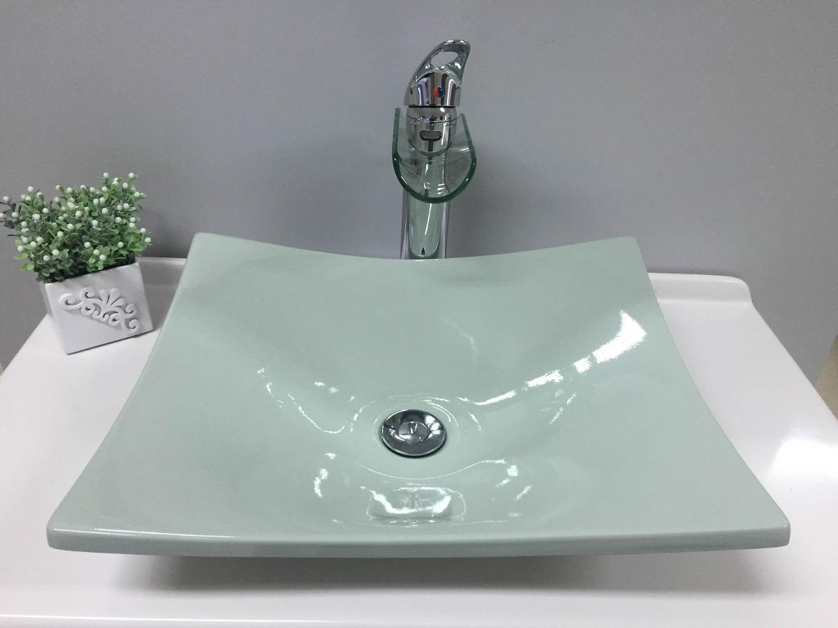 Cubapia De Apoio Banheiro Formato Folha Bari  Verde Acqua  R$ 139,99 em Me -> Cuba Para Banheiro Folha