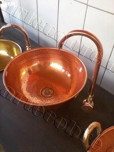 cubas de cobre e torneiras de cobre valor  cada peça  225,00