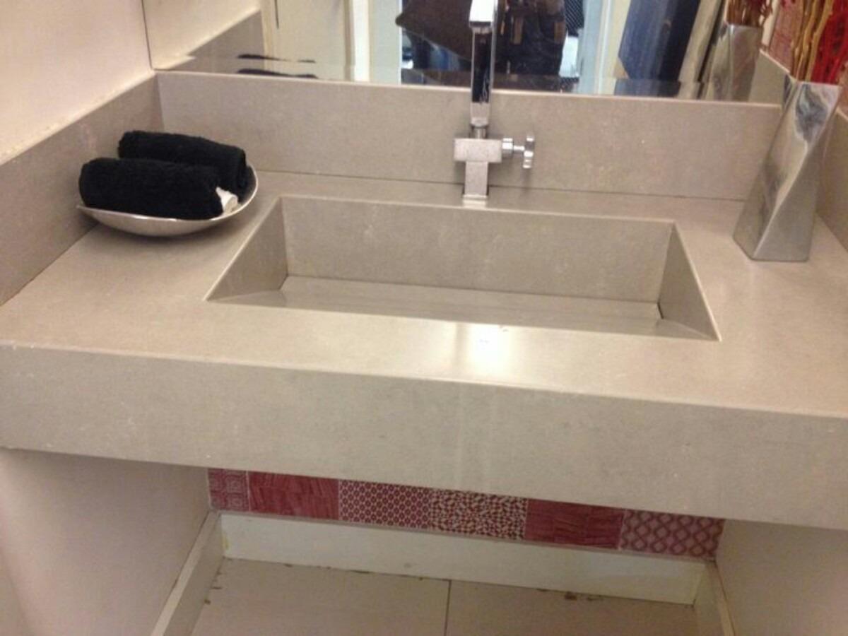 Cubas Pias E Bancadas Em Porcelanato  R$ 500,00 em Mercado Livre # Pia Para Banheiro De Porcelanato
