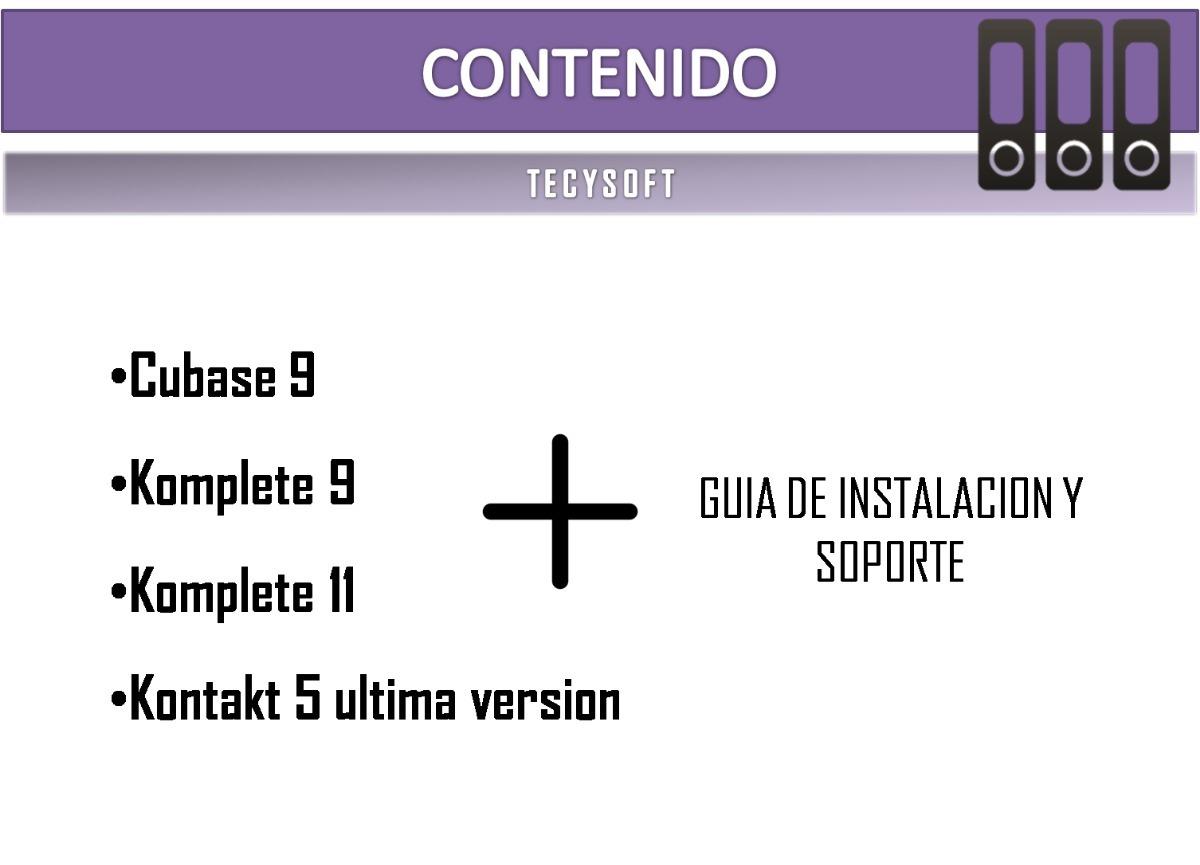 Cubase 9 + Kontakt 6 Ultima Version+ Komplete 9+ Komplete 11