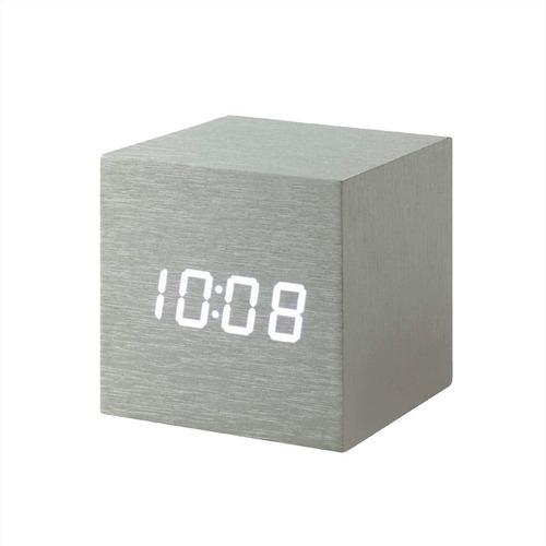cube click clock aluminio