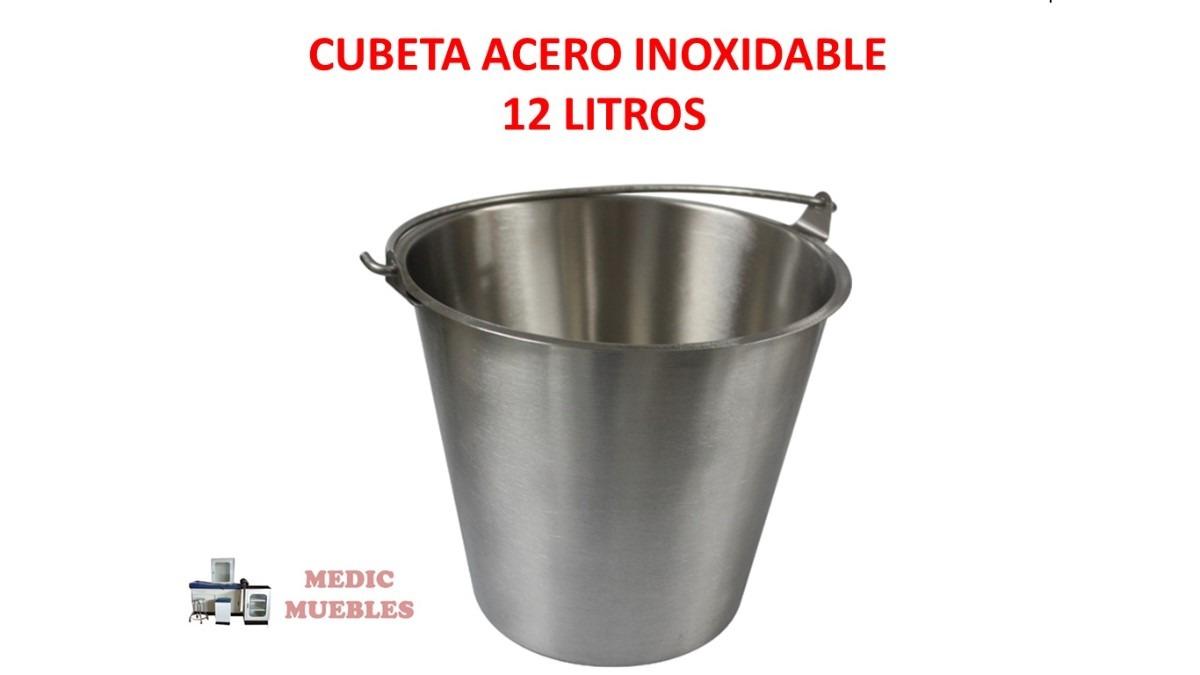 cubeta acero inoxidable 12 litros en mercado libre